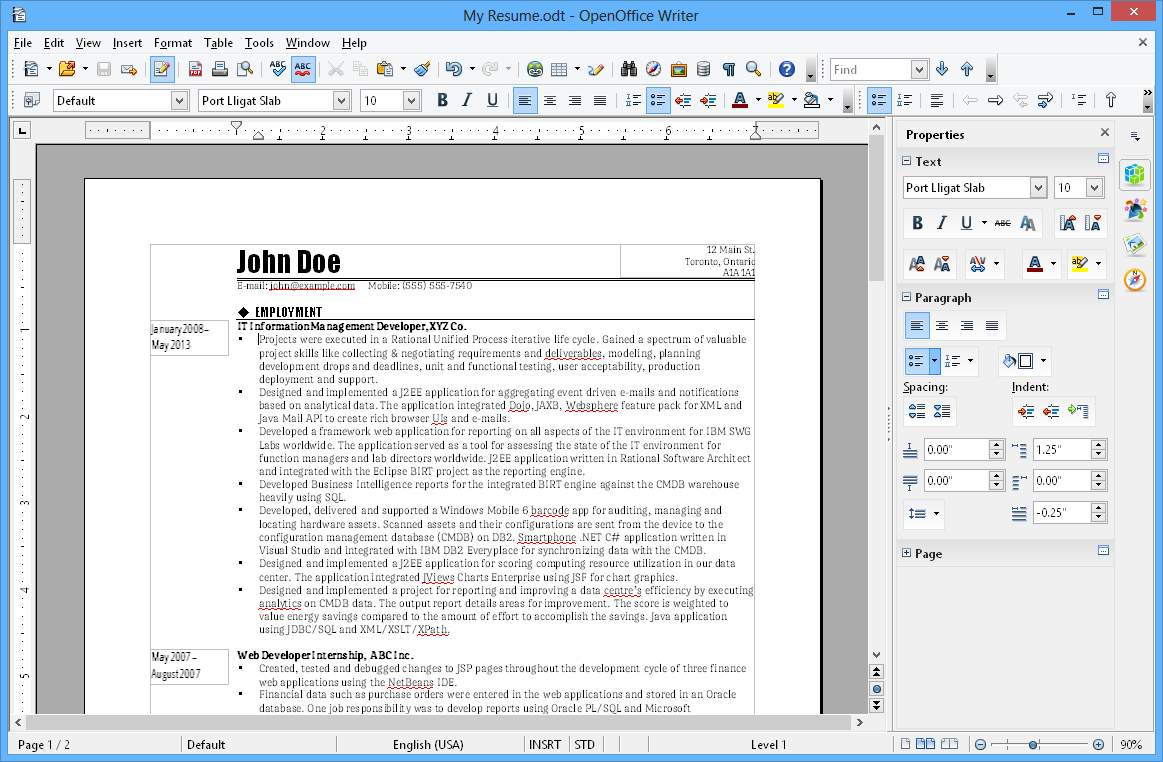Openoffice writer traitement de texte gratuit formation openoffice - Open office writer gratuit ...