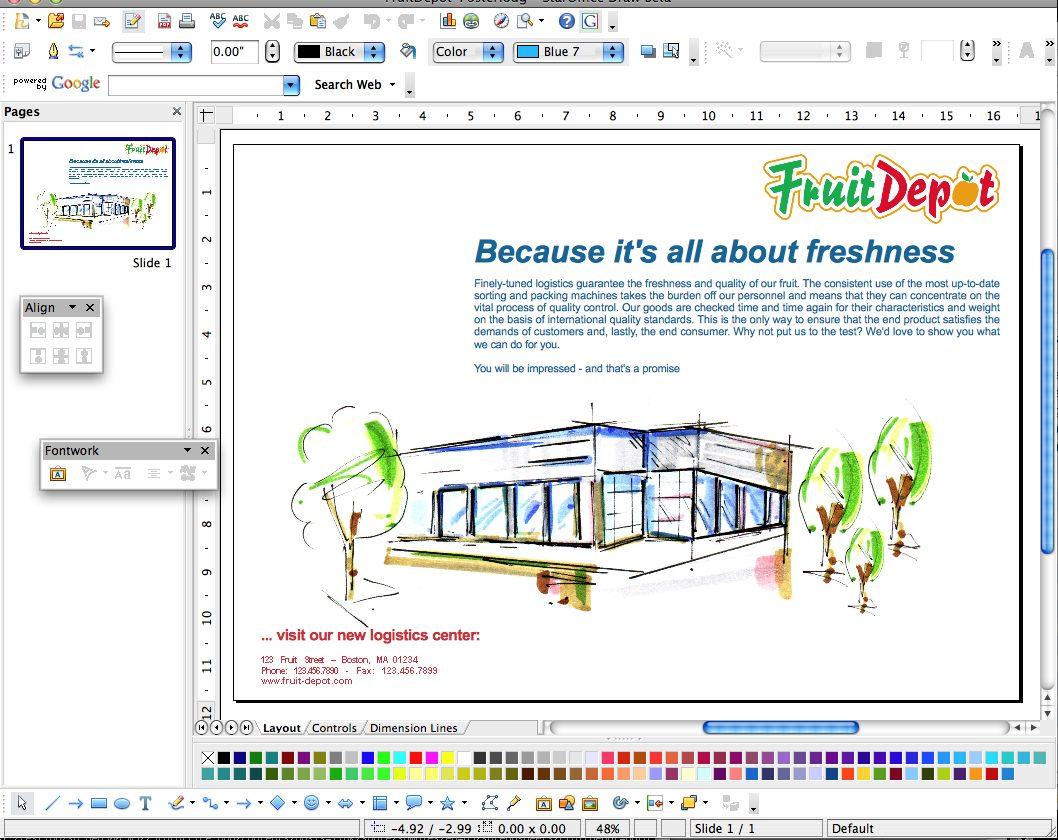 Présentation du module Draw le Publisher gratuit OpenOffice